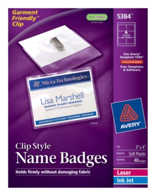 Top Loading Insertable Name Badges 5384