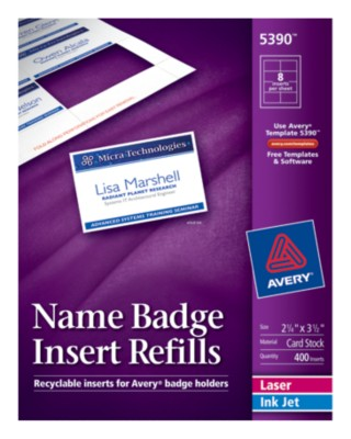 Name Badge Insert Refills 5390