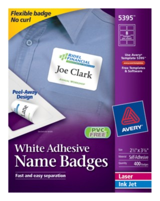 Self Adhesive Removable Name Badge Labels 5395