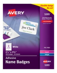 Avery Name Badges 5395 Packaging Image
