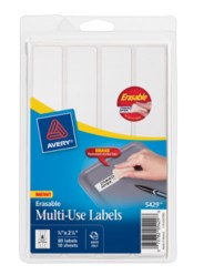Avery® Erasable Multi-Use Labels 05429, Packaging Image