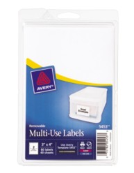Print or Write Multi-Use Labels