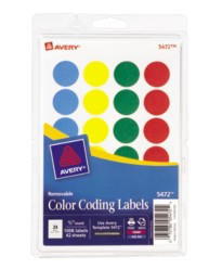 Color coding labels print or write color coding labels for Avery template 5472