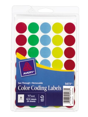 See Through Round Color Coding Labels 5473