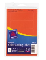 Print or Write Rectangular Color Coding Labels