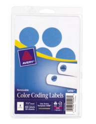 Print or Write Round Color Coding Labels