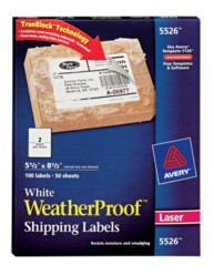 Weather Proof Mailing Labels