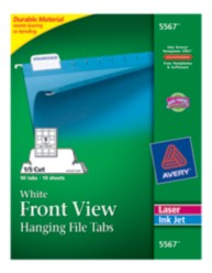 Hanging File Tabs 1/5 Cut