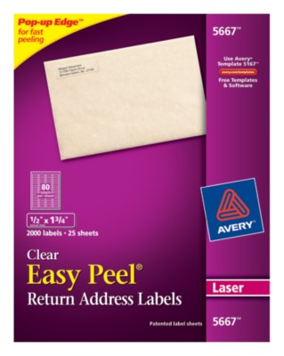 Easy Peel Clear Return Address Labels 5667