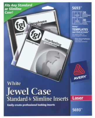 Avery CD Jewel Case Inserts 5693