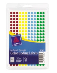 See Through Round Color Coding Labels