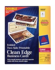 Avery Folded Clean Edge Business Cards 5820 Packaging Image