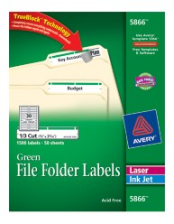 Avery File Folder Labels 5866 Package Image