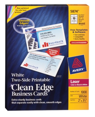 Two-Side Printable Laser Clean Edge Business Cards 5874