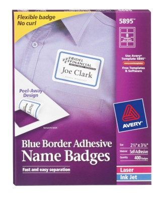 Self Adhesive Removable Name Badge Labels 5895
