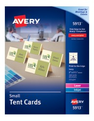 Avery® Small Tent Cards 5913, Packaging  Image