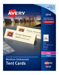Avery® Medium Embossed Tent Cards 5914, Packaging Image