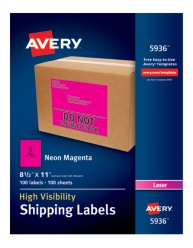 Avery® High-Visibility Shipping Labels 05936, Packaging Image