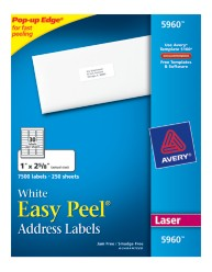 Avery Easy Peel White Address Labels 5960 Packaging Image