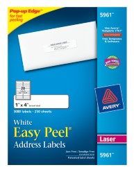 Avery Easy Peel White Address Labels 5961 Packaging Image
