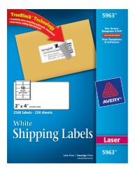 Avery Shipping Labels 5963 Packaging Image