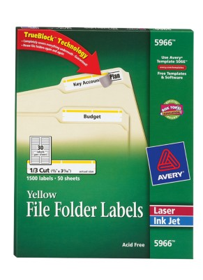 File Folder Labels 5966
