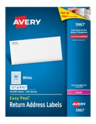 Avery Labels 5967 Packaging Image