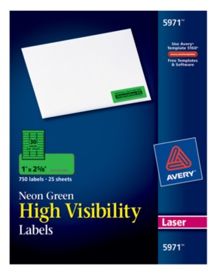 High Visibility Labels 5971