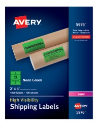 Avery® High-Visibility Shipping Labels 05976, Packaging Image