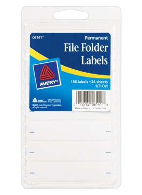 File Folder Labels 6141