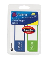 Avery® Flexible Name Badge Labels 06157, Packaging Image