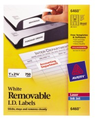 Avery Removable I.D. Labels 6460 Packaging Image