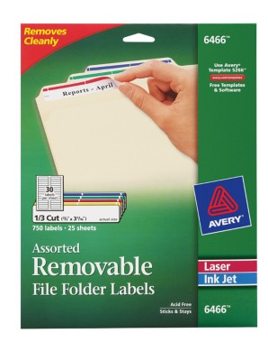Removable File Folder Labels 6466