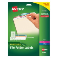 Removable file folder labels 6466 for Avery dennison label templates