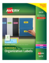 Avery Neon Multipurpose Removable Labels