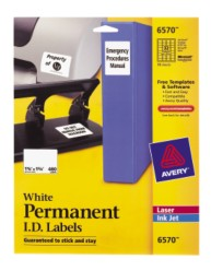 Avery Durable I.D. Labels 6570 Packaging Image