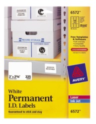 Avery Permanent ID Labels 6572 Packaging Photo