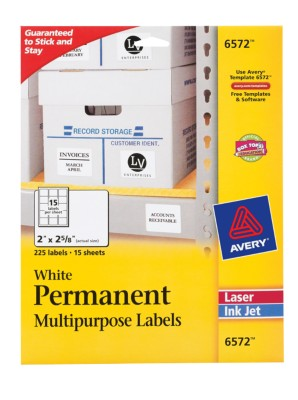 Permanent Multipurpose Labels 6572
