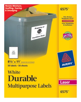 Durable Multipurpose Labels 6575