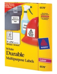 Avery Durable I.D. Labels 6578 Packaging Image