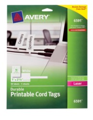 Avery Removable Cord Tag 6591 Packaing Image