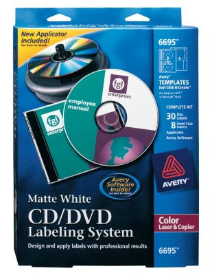 Avery CD/DVD Labeling System 6695