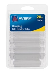Avery® Insertable Hanging File Folder Tabs 06727, Pack of 20