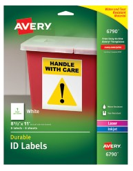 Avery Durable ID Labels 06790 packaging