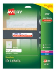 Avery Durable ID Labels 06792 packaging