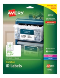 Avery Durable ID Labels 06793 packaging