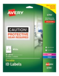 Avery Durable ID Labels 06794 packaging