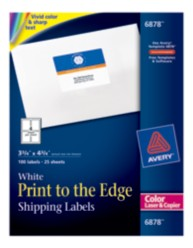 Avery Print-to-the-Edge Label 6878 Packaging Image