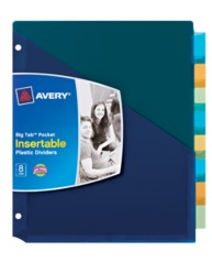 Avery® Big Tab™ Pocket Insertable Plastic Dividers 07729, Packaging Image