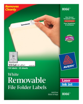 Removable File Folder Labels 8066